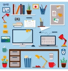 Business and home workplace vector image