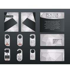 Business corporate branding identity set Brochure vector image