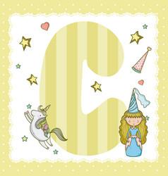 c alphabet letter for kids vector image