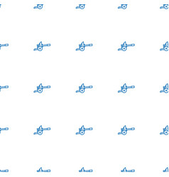 Cannon icon pattern seamless white background vector