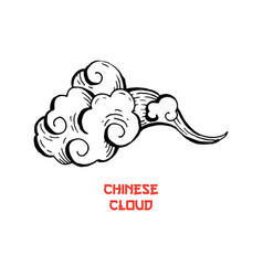 chinese clouds and wind blows isolated vector image