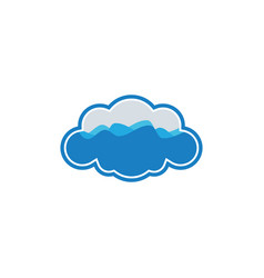 cloud wave logo vector image