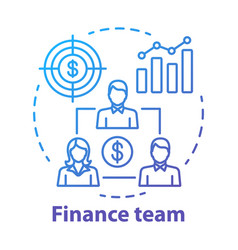 Company finance team concept icon management vector