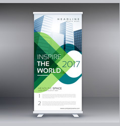 Company roll up banner presentation vector