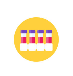 Complete blood count test lab tubes icon vector