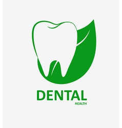 Dental herbal health logo vector