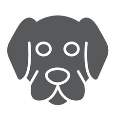 Dog glyph icon animal and zoo mammal sign vector