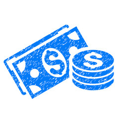 dollar cash grunge icon vector image