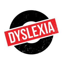 Dyslexia rubber stamp vector