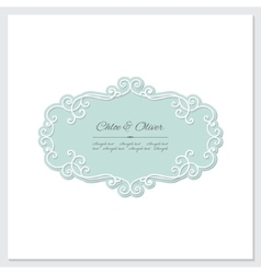 Elegant frame Wedding design vector
