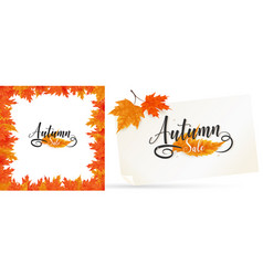 fall background and frame vector image