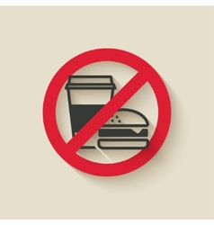 fast food no sign vector image