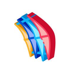 Few pieces kite isometric icon vector