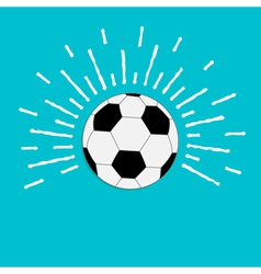 Football soccer ball with ray of light sunlight vector