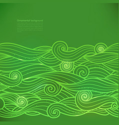 Glow background with waves or clouds vector
