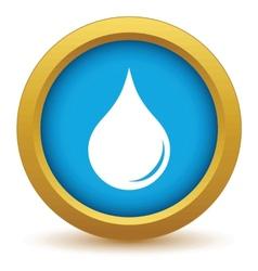 Gold drop icon vector