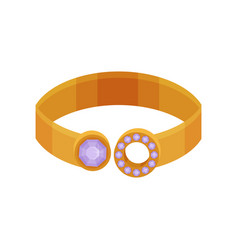 Gold ring fashionable jewelry vector