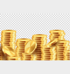 golden coin background realistic gold money vector image