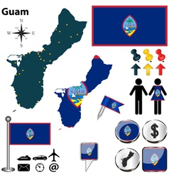 Guam map vector image