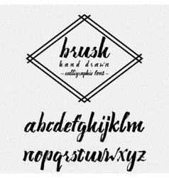 Hand drawn font handwriting brush It can be used vector