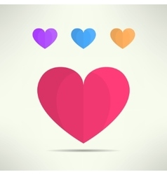 heart icon in modern geometrical design vector image