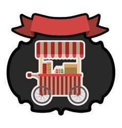 Hot dog cart vector image