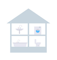 Image of water users in a private house vector