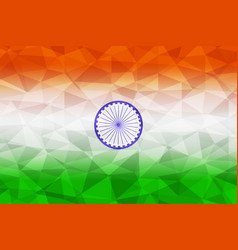 India flag polygonal vector