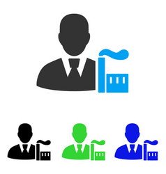 Industry capitalist flat icon vector