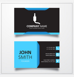 Jack audio cable icon business card template vector