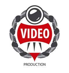 Logo emblem lens and videotapes vector