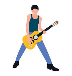 Male rock star vector