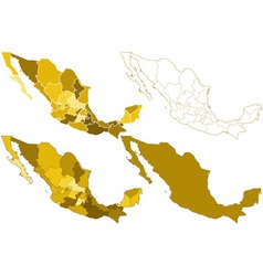 Mexico maps vector image