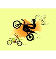 Motocross enduro set vector