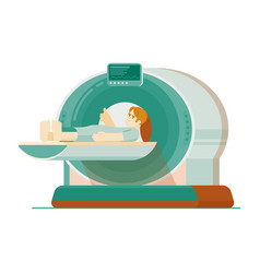 mri scanning or computer tomography diagnostic vector image