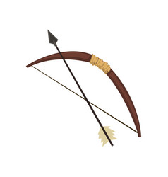 old bow and arrow on a white vector image