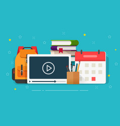Online courses or webinar training vector