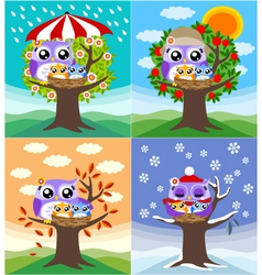 owl mother love vector image vector image
