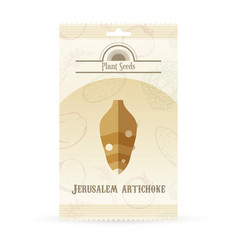 Pack of jerusalem artichoke seeds icon vector