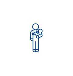 person with baby line icon concept person with vector image