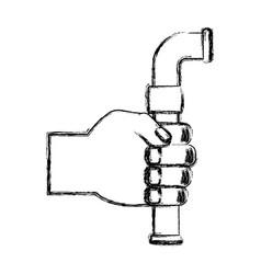 Pipe plumbing symbol vector