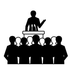 Political speaker icon simple style vector