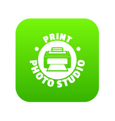 print photo studio icon green vector image