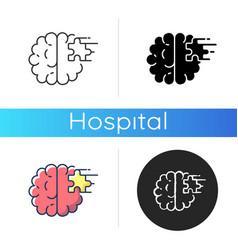 Psychiatric ward icon vector