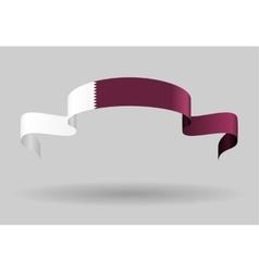 Qatari flag background vector image