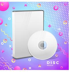 realistic disk box mockup abstract banner vector image