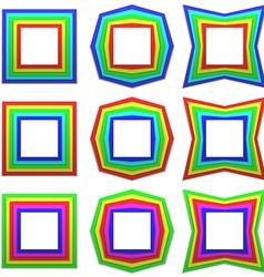 Retro frame set vector