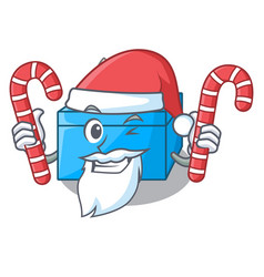 Santa with candy tissue box isolated on the mascot vector