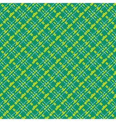 Seamless mesh diagonal pattern over green vector image
