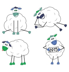 Set of funny sheep vector image